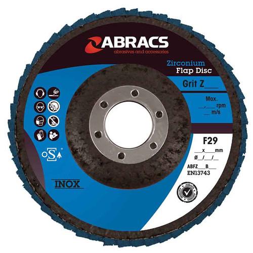 Abracs Zirconium Flap Disc 100mm x 120G