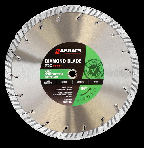 Abracs ABDT30020H Pro Hard Construction Diamond Blade 300mm