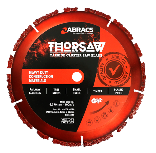 Abracs ABDCB30020 Thorsaw Carbide Cluster Saw Blade 300mm