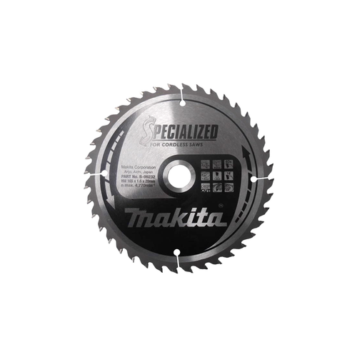 Makita B-09232 Specialized Circular Saw Blade 165 x 20mm 40T