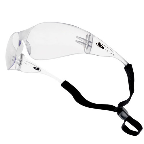 Bolle B-Line Clear Safety Specs with Neck Cord