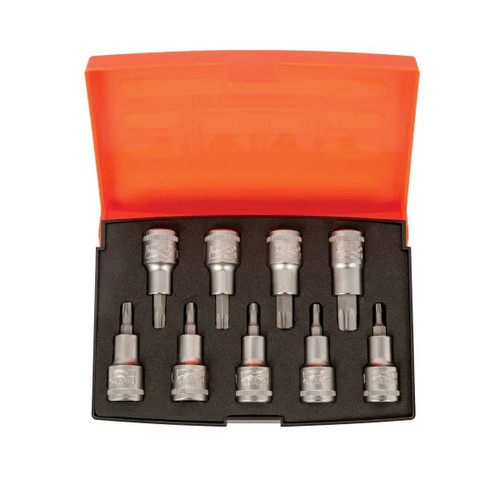 Bahco S9TORX 1/2 inch Drive Socket Set of 9 Metric (BAHS9TORX)