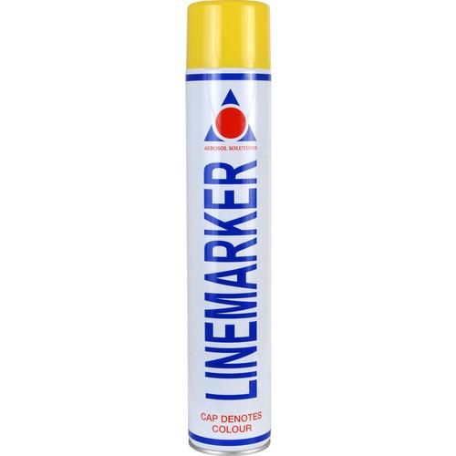 Aerosol Solution 0900 Line Marking Spray Paint Yellow 750ml
