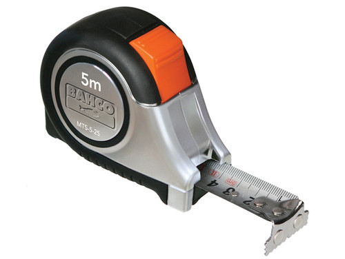Bahco BAHMTS525E MTS Reversible Magnetic Tip Auto Pocket Tape 5m/16ft (Width 25mm)   Toolden