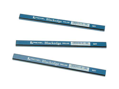 Blackedge BLAB Carpenters Pencils - Blue / Soft Card of 12 | Toolden