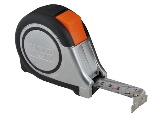Bahco BAHMTS825E MTS Reversible Magnetic Tip Auto Pocket Tape 8m/26ft (Width 25mm) | Toolden