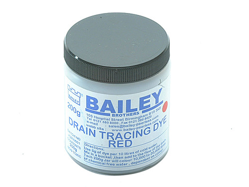 Bailey BAI3590 3590 Drain Tracing Dye - Red | Toolden