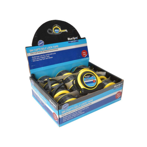 BlueSpot Tools B/S33012 Tape 5m (12 Piece Display) | Toolden
