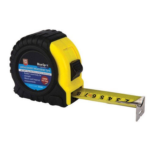 BlueSpot Tools B/S33100 Broad Buddy Pocket Tape 8m/26ft | Toolden