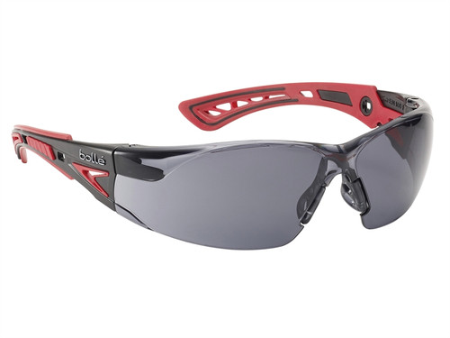 Bolle Safety BOLRUSHPPSF RUSH+ Safety Glasses - Smoke | Toolden