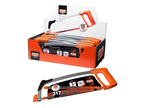 Bahco BAH31710PAV 317-10P-DISP-PROM Hacksaw Frame & Blade Display of 10 | Toolden