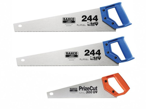 Bahco BAH24422300 2 x 244 22in Handsaws + 1 x Toolbox Handsaw 350mm