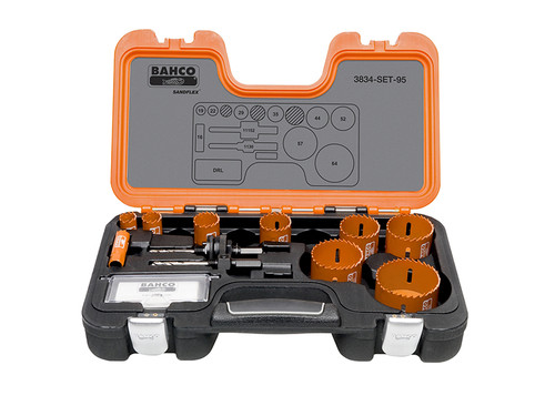Bahco BAHHSSET95 Professional Holesaw Set 3834-95 Sizes: 16-64mm | Toolden
