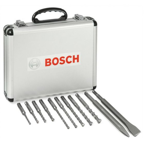 Bosch 11 Piece SDS Plus Mixed Hammer Drill & Chisel Set | Toolden