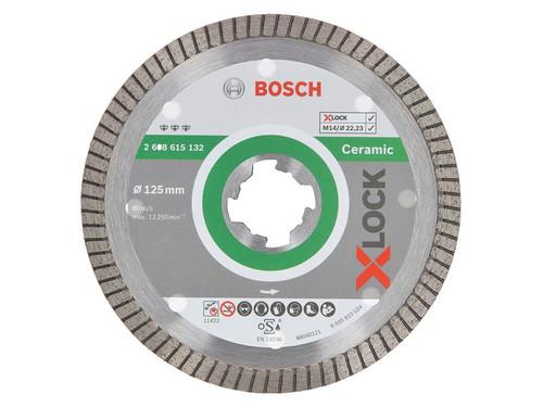 Bosch BSH615132 X-LOCK Best for Ceramic Extraclean Turbo Diamond Disc 125 x 1.4 x 22.23mm   Toolden