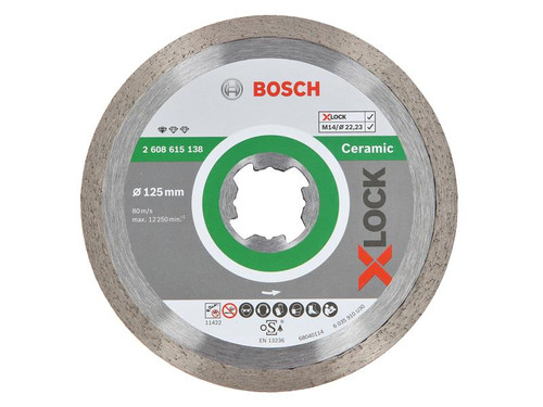 Bosch BSH615138 X-LOCK Standard Diamond Disc for Ceramics 125 x 1.6 x 22.23mm | Toolden