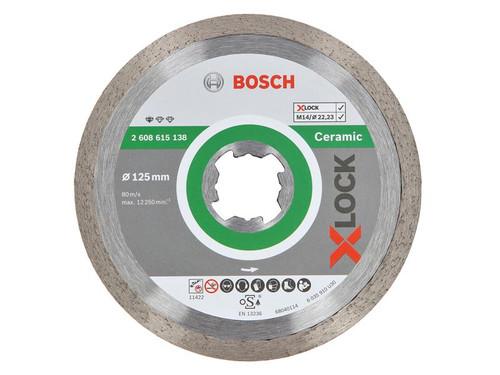 Bosch BSH615138 X-LOCK Standard Diamond Disc for Ceramics 125 x 1.6 x 22.23mm   Toolden