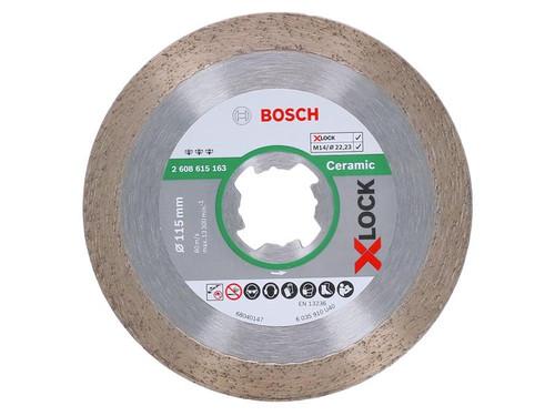 Bosch BSH615163 X-LOCK Best for Ceramic Diamond Disc 115 x 1.8 x 22.23mm | Toolden