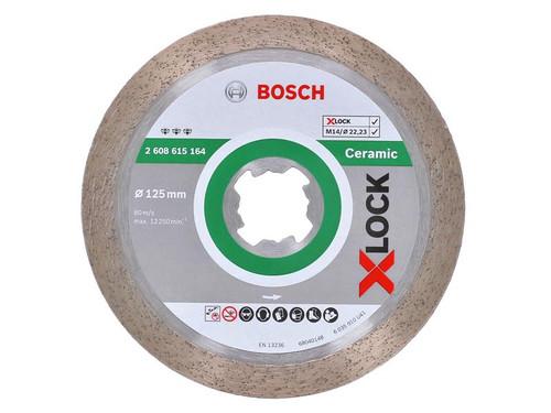 Bosch BSH615164 X-LOCK Best for Ceramic Diamond Disc 125 x 1.8 x 22.23mm | Toolden
