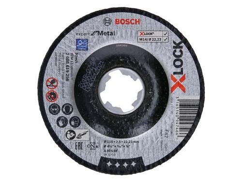 Bosch BSH619256 X-LOCK Expert for Metal Depressed Centre Cutting Disc 115 x 2.5 x 22.23mm | Toolden