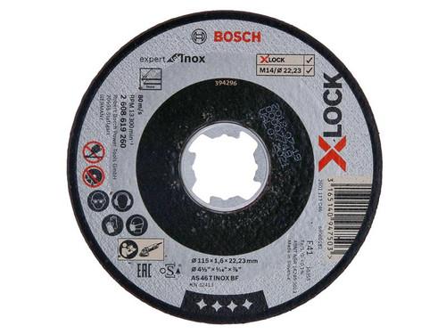Bosch BSH619260 X-LOCK Expert for Inox Cutting Disc 115 x 1.6 x 22.23mm | Toolden