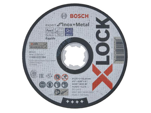 Bosch BSH619264 X-LOCK Expert for Inox Cutting Disc 125 x 1 x 22.23mm | Toolden