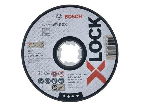 Bosch BSH619265 X-LOCK Expert for Inox Cutting Disc 125 x 1.6 x 22.23mm   Toolden