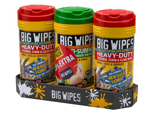 Big Wipes (Triple Pack + 25% Extra Free)   Toolden