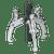 Sealey SGP34 Triple Leg Reversible Puller 100mm
