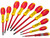 Stanley Tools FatMax VDE Insulated Pozi/Parallel/Flared Screwdriver Set of 10
