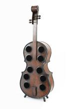 Wooden Violin Shaped Wine Rack-10 Bottle Decorative Wine Holder