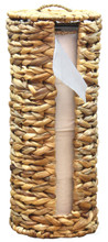 Wicker Water Hyacinth Tall Toilet Tissue Paper Holder for 4 wide rolls