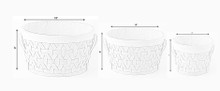 Round Woodchip Lined Storage Baskets with Handles