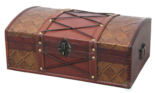 Pirate Treasure Chest with Leather X