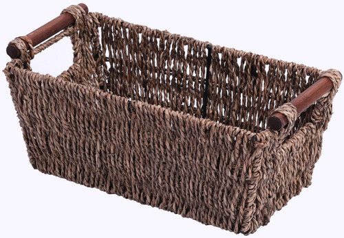 Seagrass Counter-Top Basket Great for Folded Paper Towel