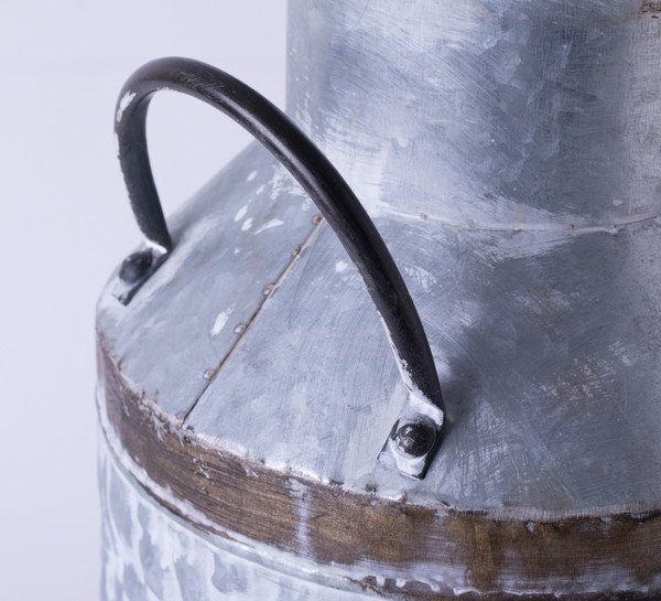 Rustic Farmhouse Style Galvanized Metal Milk Can Decoration Planter And Vase Vintiquewise