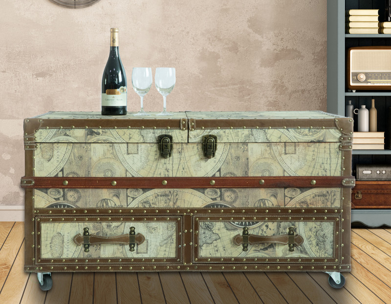 Wine Bar Cabinets with A Twist