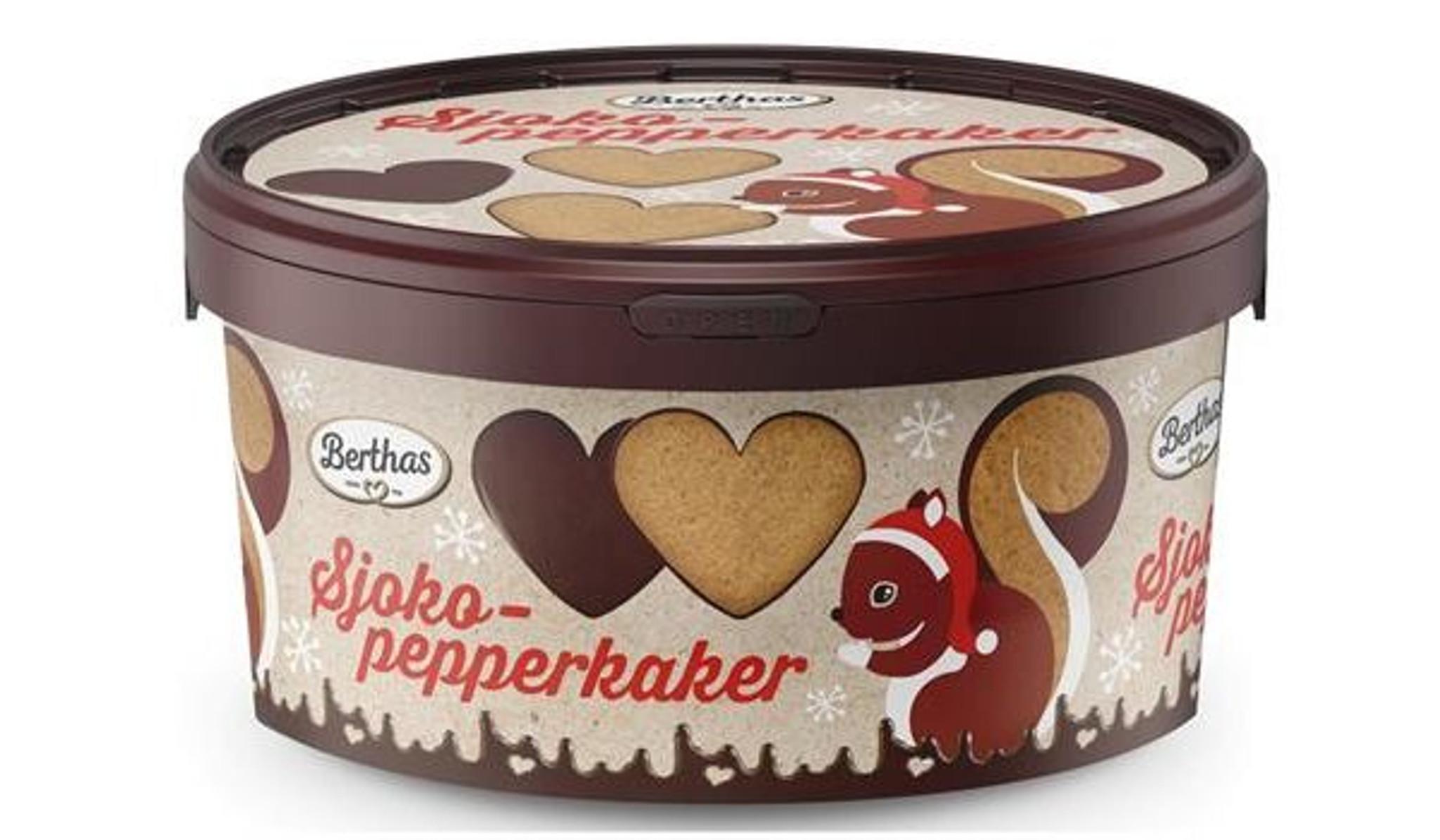 Chocolate Gingerbread Cookies 300 Grams Sjokopepperkaker