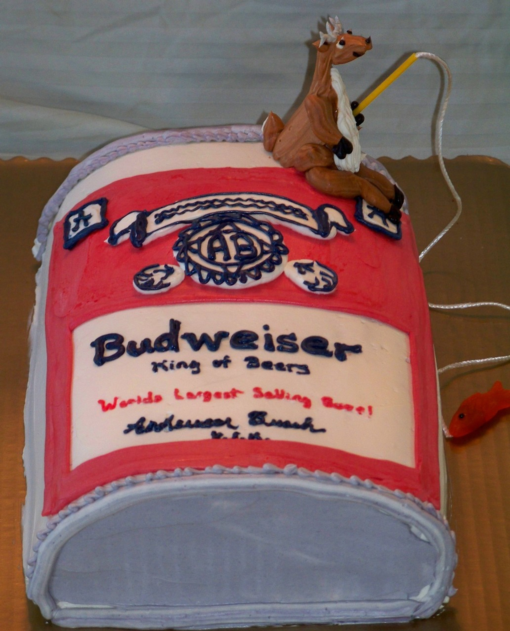 Fantastic Budweiser Beer Cake Price Per Serving Funny Birthday Cards Online Inifofree Goldxyz