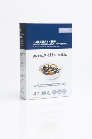 BLUEBERRY HEMP ANCIENT GRAIN GRANOLA + PUFFS CEREAL
