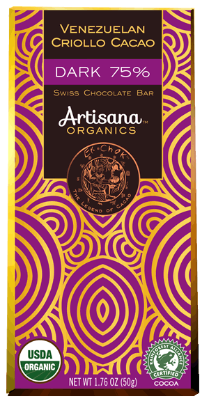 Swiss Chocolate Bar – Dark 75%  Venezuelan Criollo Cacao