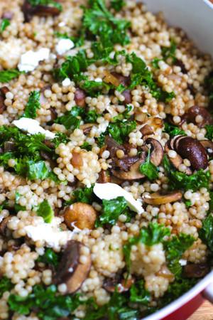 Balsamic Mushroom Pearl Couscous