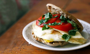 Caprese Egg Breakfast Sandwich