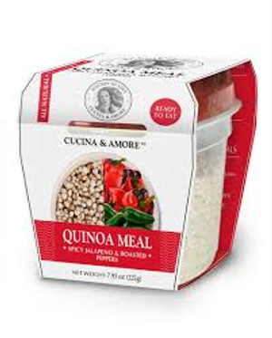 6 Pack : Cucina & Amore Spicy Jalapeno & Roasted Peppers Quinoa Meal, 7.9 oz