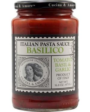 Cucina & Amore Italian Pasta Sauce Basilico Tomato, Basil & Garlic