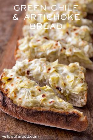 Green Chile & Artichoke Bruschetta Bread