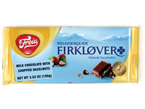 Freia Firklover Milk Chocolate with Hazelnut Bar