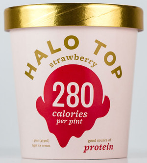 Halo Top Creamery - Strawberry Ice Cream - 1 Pint - Healthy!