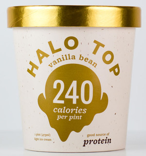 Halo Top Creamery - Vanilla Bean Ice Cream - 1 Pint - Healthy!