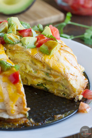 Breakfast Tortilla Stack